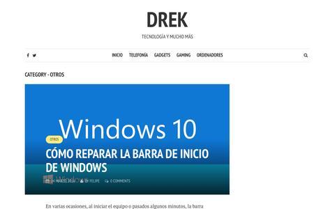 Screenshot of drek.es - Otros | Drek - captured Oct. 30, 2016