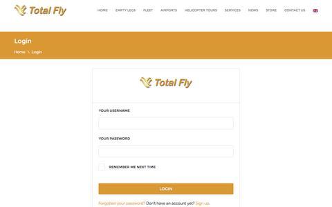 Screenshot of Login Page totalfly.net - Login - Total Fly - captured Dec. 13, 2016