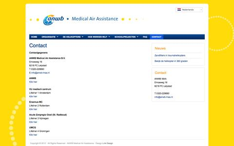 Screenshot of Contact Page anwb-maa.nl - Contact : ANWB - captured Oct. 4, 2014