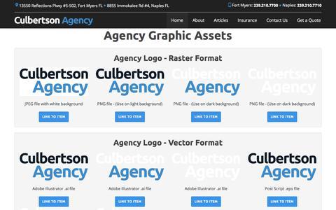 Screenshot of Press Page culbertsonagency.com - Agency Assets | Culbertson Agency - captured July 24, 2018