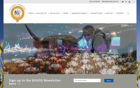 Screenshot of Home Page rhass.org.uk - Home ~ RHASS - captured Feb. 15, 2016