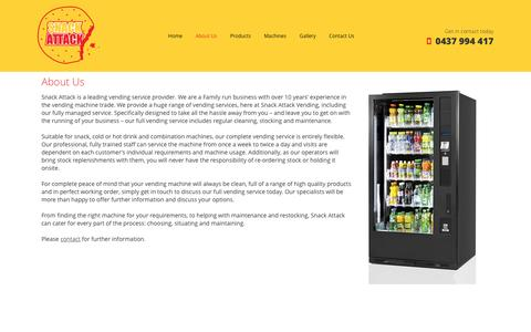 Screenshot of About Page snackattack.com.au - Snack Attack, WA | Snack & Drink Vending Services - captured Dec. 2, 2016