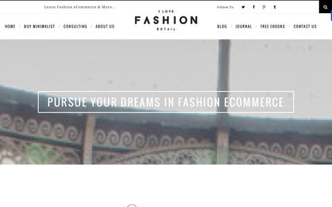 Screenshot of Home Page ilovefashionretail.com - Fashion Ecommerce Consulting and Resources for Small & Emerging Brands - captured Dec. 16, 2015