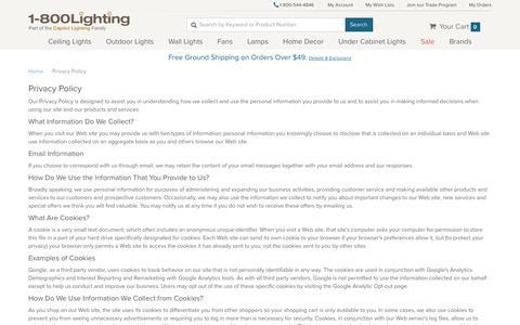 1800lighting.com - Privacy