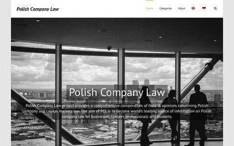 Screenshot of Home Page polishcompanylaw.com - Polish Company Law - captured Dec. 10, 2015