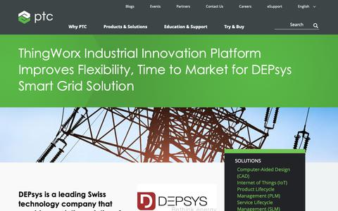 Screenshot of Case Studies Page ptc.com - ThingWorx Industrial Innovation Platform Improves Flexibility, Time to Market for DEPsys Smart Grid Solution | Case Study | PTC - captured Nov. 13, 2018