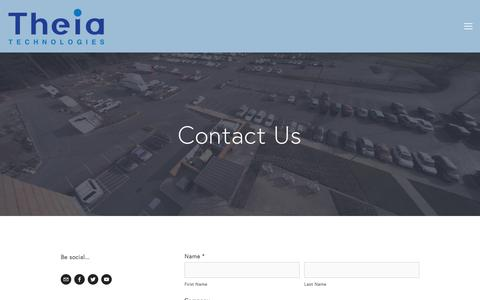 Screenshot of Contact Page theiatech.com - Contact — Theia Technologies - captured Feb. 16, 2016