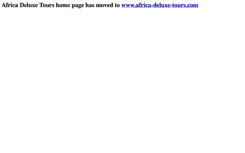 Screenshot of Home Page afrilux.co.za - Africa Deluxe Tours home page has moved to http://www.africa-deluxe-tours.com - captured Oct. 4, 2014
