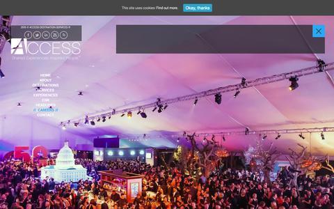Screenshot of Jobs Page accessdmc.com - Destination Management Careers, Event Planning Careers - captured Jan. 18, 2019