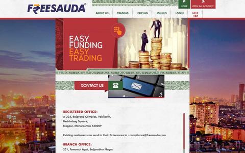 Screenshot of Contact Page freesauda.com - Contact Us | Freesauda - captured Sept. 30, 2014