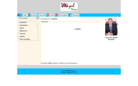Screenshot of Home Page mucur.gov.tr - Mucur Kaymakamlığı - captured Oct. 10, 2015