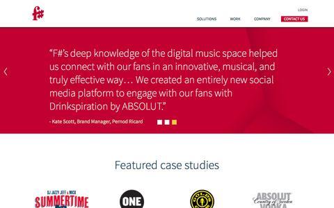 Screenshot of Case Studies Page efsharp.com - Customers, Case Studies and Featured Work - captured Oct. 4, 2014