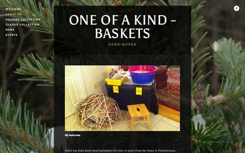 Screenshot of About Page oneofakindbaskets.com - About Me — One Of A Kind - Baskets - captured Oct. 7, 2014