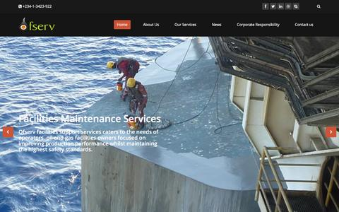 Screenshot of Home Page ofserv.com - Home | Oilfield Services International - captured Jan. 12, 2016