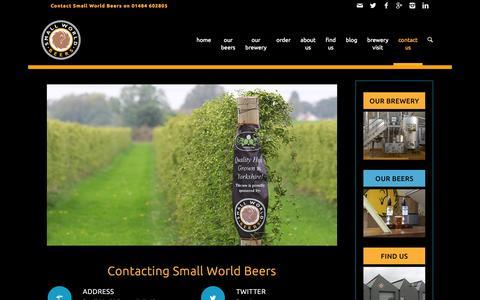 Screenshot of Contact Page smallworldbeers.com - Small World Beers | contact us | Small World Beers - captured Nov. 4, 2014