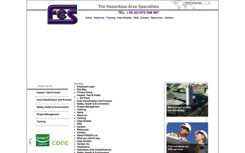 Screenshot of Site Map Page fes-ex.com - Site Map - captured Oct. 4, 2014