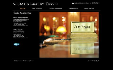 Screenshot of Contact Page croatialuxurytravel.com - Luxury Travel Croatia | Dubrovnik | London - captured Dec. 13, 2015