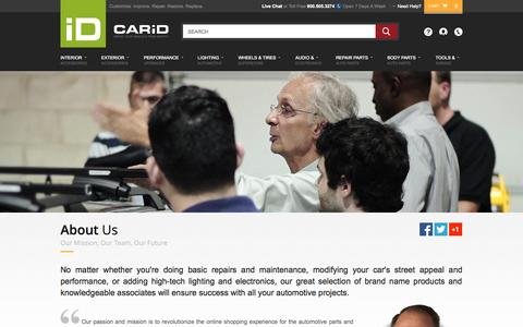 Screenshot of About Page carid.com - CARiD.com - ABOUT US - captured Sept. 18, 2014