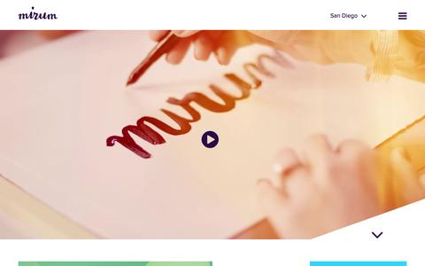 Screenshot of Home Page mirumagency.com - Mirum. A global digital agency. - captured Nov. 19, 2015