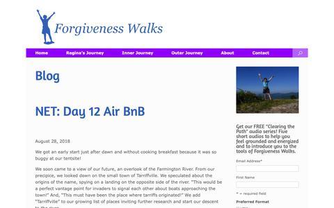Screenshot of Blog forgivenesswalks.com - Blog   Forgiveness Walks - captured Oct. 10, 2018