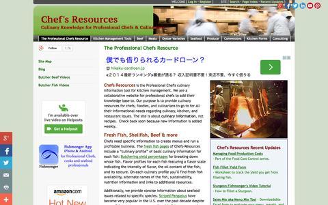 Screenshot of Home Page chefs-resources.com - Chef's Resources - The Professional Chefs Resource - captured Sept. 22, 2014