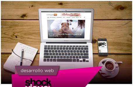 Screenshot of Home Page shockvisual.net - Shock Visual - Desarrollo Web - captured Aug. 13, 2016