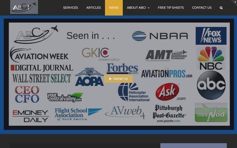 Screenshot of Press Page aviationbusinessconsultants.com - Aviation News | Aviation Business Consultants - captured Oct. 7, 2019