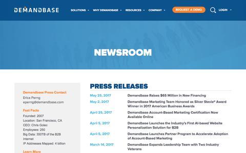 Account-Based Marketing – Demandbase   Newsroom :: Account-Based Marketing – Demandbase