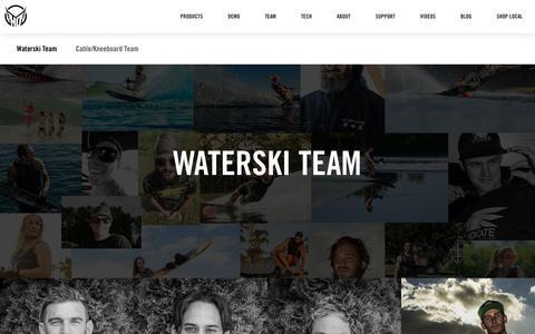 Screenshot of Team Page hosports.com - Water Skis - Water Skiing Equipment - HO Sports - captured Nov. 4, 2018
