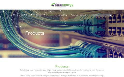 Screenshot of Products Page dataenergy.co.uk - Products - Data Energy - captured Aug. 5, 2018