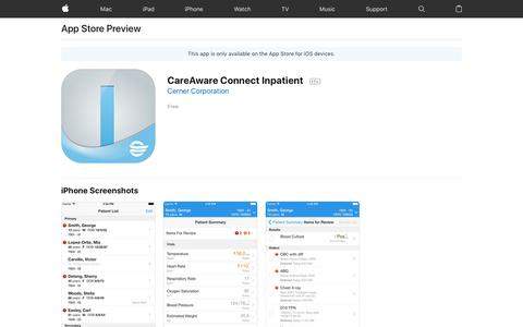 CareAware Connect Inpatient on the App Store