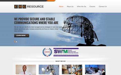 Screenshot of Home Page cmgresource.com - CMG Resource - captured Sept. 26, 2014