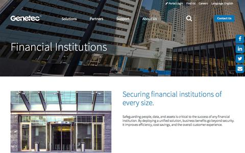 Financial Institutions | Genetec