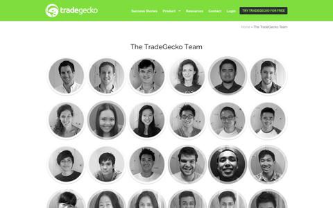 Screenshot of Team Page tradegecko.com - The TradeGecko Team - The People Behind the Company - captured Sept. 17, 2014