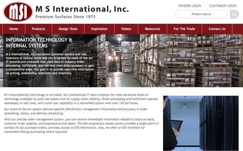 Screenshot of msistone.com - Information Technology | M S International, Inc. | Premium Surfaces - captured June 9, 2016