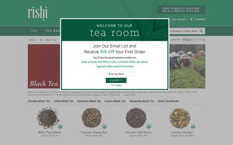 Buy Organic Black Tea | Rishi-Tea.com