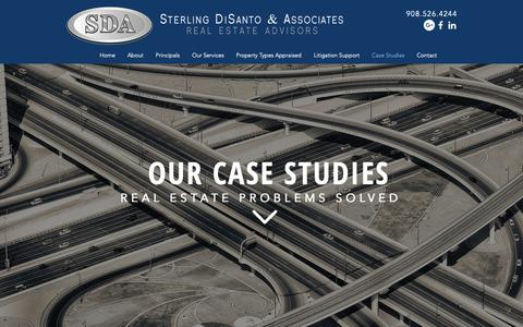 Screenshot of Case Studies Page sdadvisors.com - Commercial Property Appraisal Services Case Studies NJ - captured Oct. 26, 2018