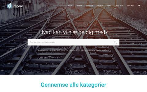 Screenshot of Support Page dinero.dk - Hjžlp til Dinero - captured Jan. 7, 2016