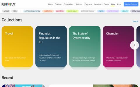 Screenshot of Blog plugandplaytechcenter.com - Resources - Plug and Play Tech Center - captured Nov. 16, 2019