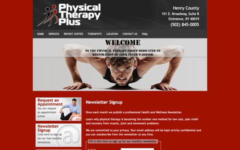 Screenshot of Signup Page ptpluslouisville.com - Physical Therapy Plus Newsletter Signup - captured Sept. 28, 2018