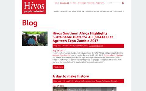 Screenshot of Blog hivos.org - Blog   Hivos International - captured May 20, 2017
