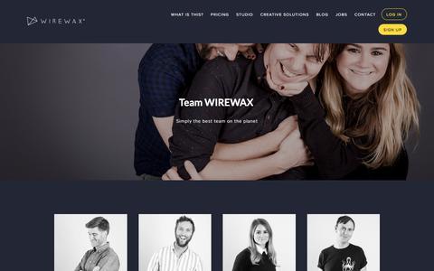 Screenshot of Team Page wirewax.com - WIREWAX Interactive Video — Team WIREWAX - captured Sept. 23, 2018