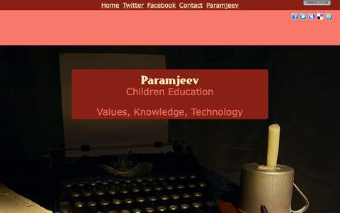 Screenshot of Home Page paramjeev.com - Paramjeev - captured Sept. 27, 2014