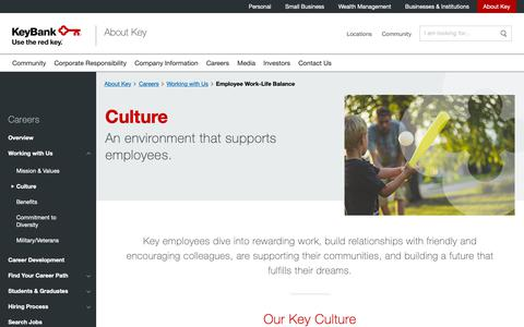 Screenshot of Jobs Page key.com - Employee Work-Life Balance   KeyBank - captured April 19, 2019