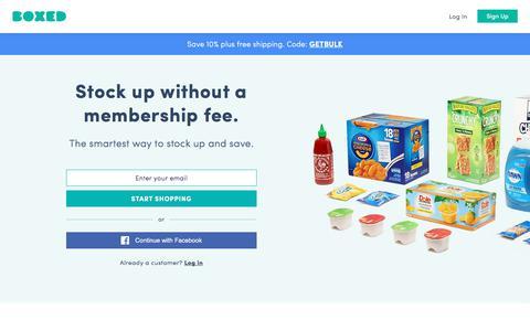 Wholesale | No Membership | Save Money, Time, & Gas | Boxed