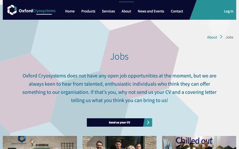 Screenshot of Jobs Page oxcryo.com - Jobs | Oxford Cryosystems - captured Nov. 19, 2018