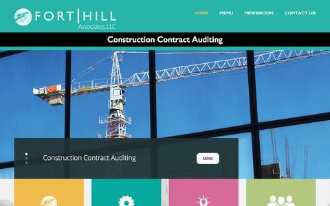 Screenshot of Home Page Menu Page forthillassociates.com - Fort Hill Associates - captured Feb. 10, 2016