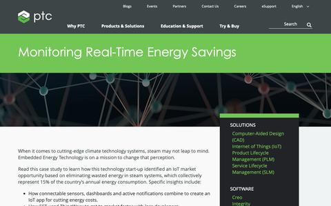 Screenshot of Case Studies Page ptc.com - Monitoring Real-Time Energy Savings | Case Study | PTC - captured Nov. 13, 2018