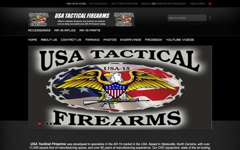 Screenshot of Home Page Products Page usatf.us - Welcome To USA Tactical Firearms Store - captured Oct. 6, 2014