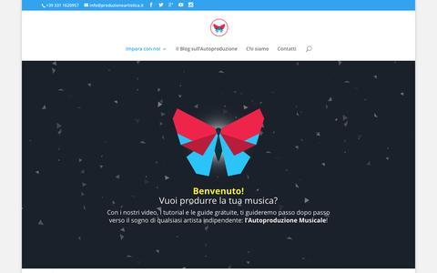 Screenshot of Home Page produzioneartistica.it - Produzione Artistica | Produzioni Musicali - captured Nov. 12, 2016